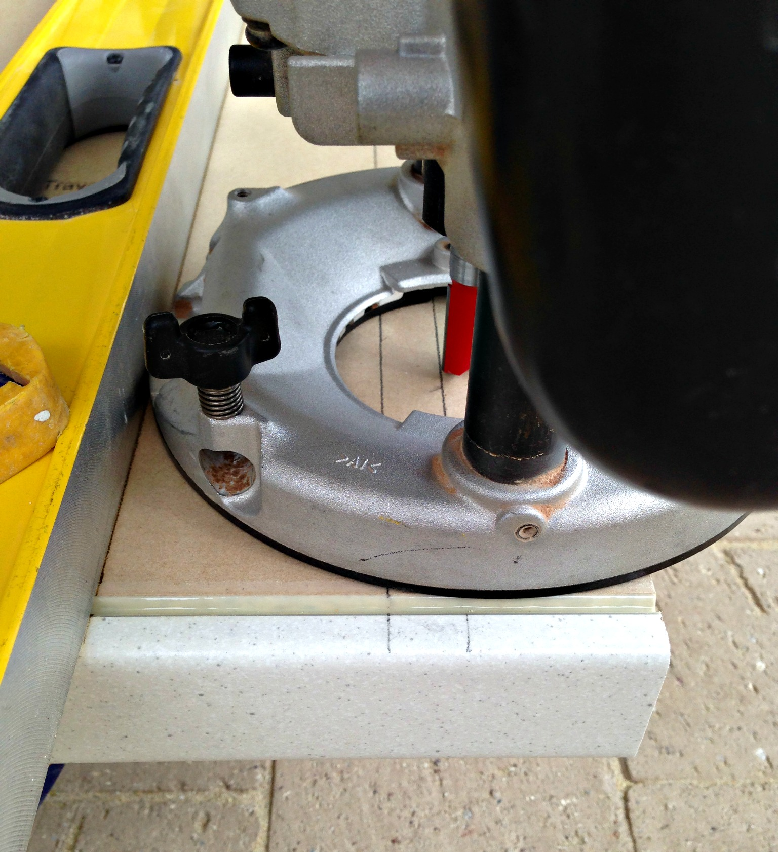 Cutting worktops to length