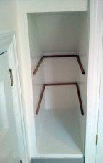 how to install alcove shelves