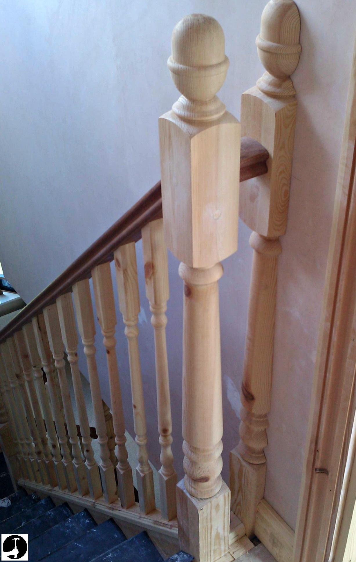 Fitting A Half Newel Post To The Wall