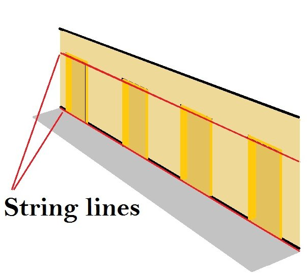 installing door linings in a corridor
