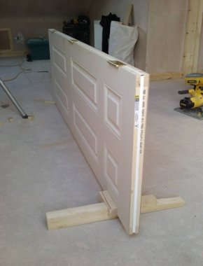 saddle and block for hanging doors