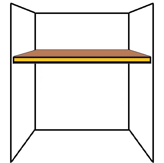 Floating alcove shelf