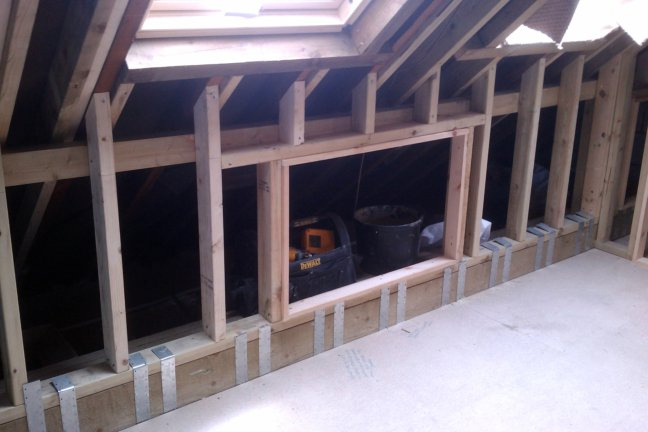 Loft Conversion Timber Sizes For Ashlar Wall And Collars