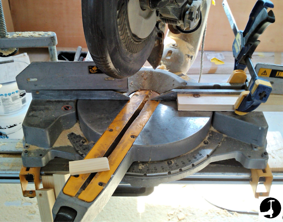 Set up a stop for perfect repeat cuts on the chpsaw