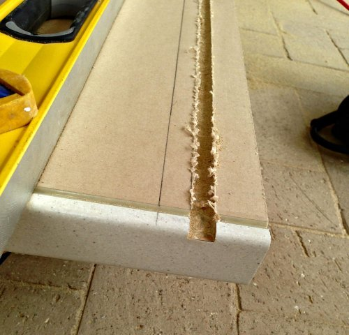 Cut the worktop in small depths 4-5 times