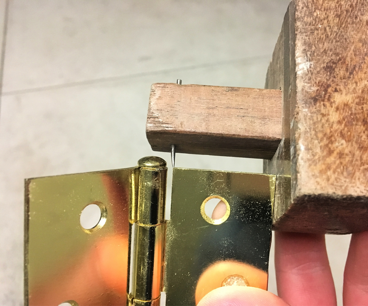 Use a marking gauge for perfect hinge recesses