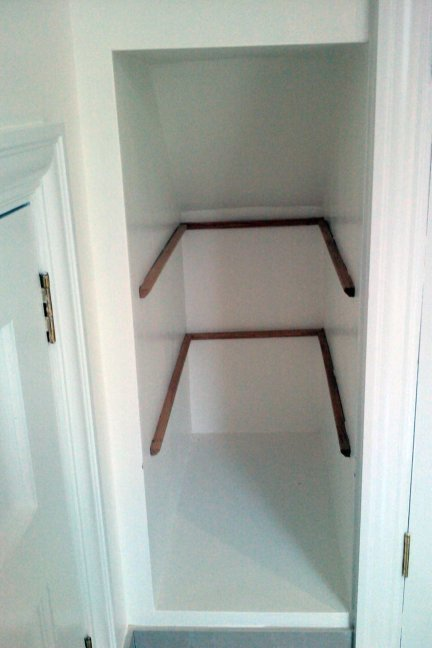 how to install alcove shelves
