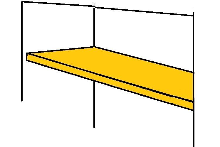 putting up alcove shelves