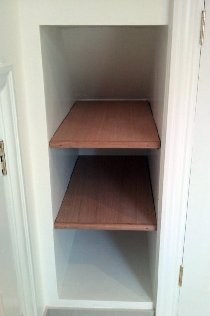 how to make alcove shelves