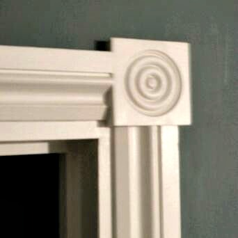 Architrave corner blocks installation for Door architrave