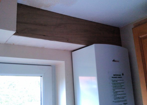 Making A Bathroom Pipe Boxing With Mdf Plasterboard Or