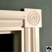 Corner blocks used for architraves around doorways