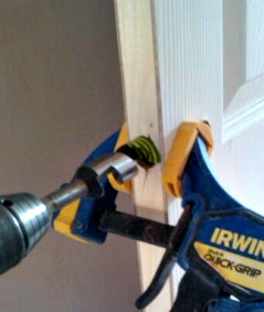 How to drill a tubular mortice latch in the doors edge