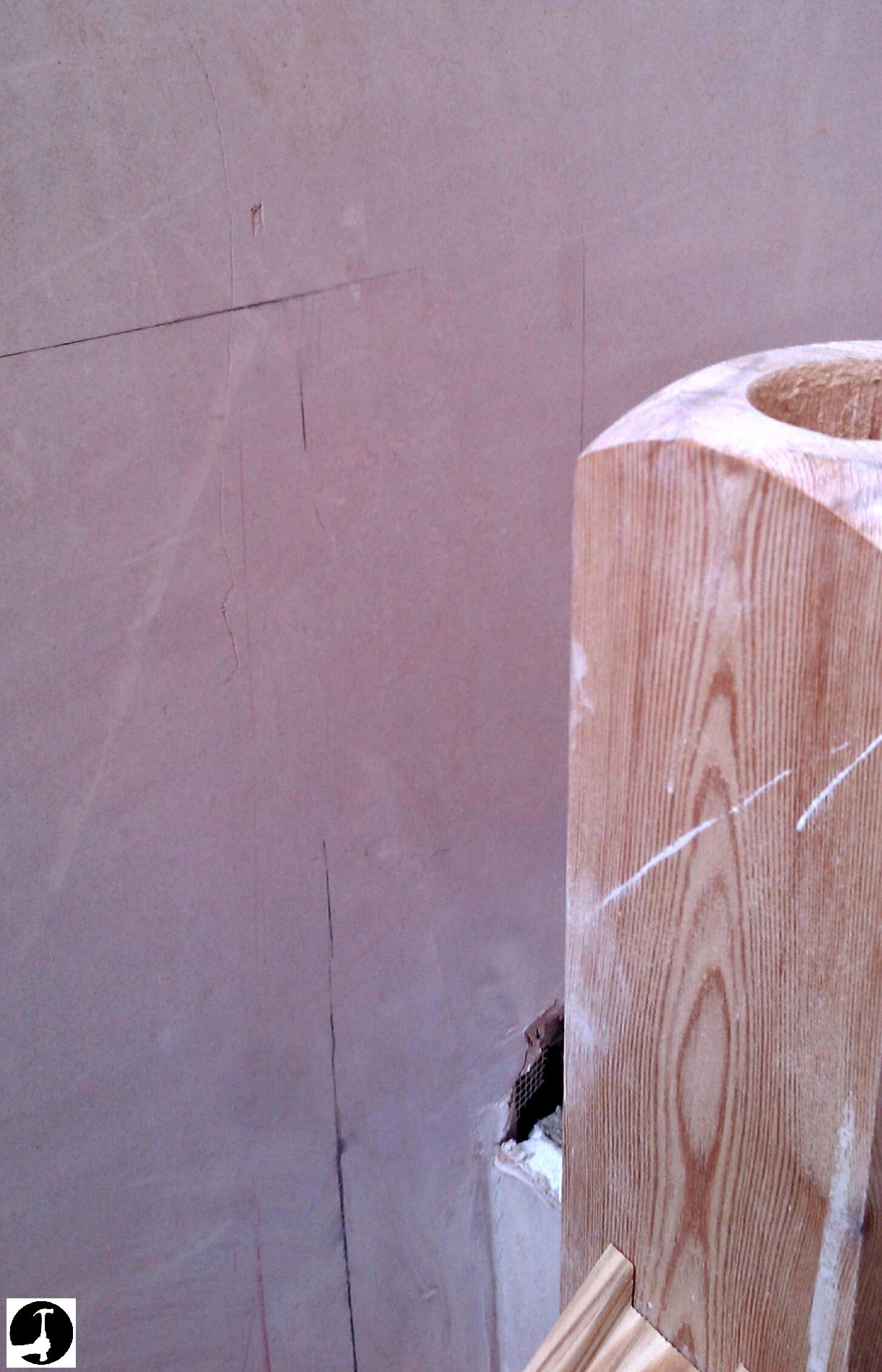 setting out a half newel
