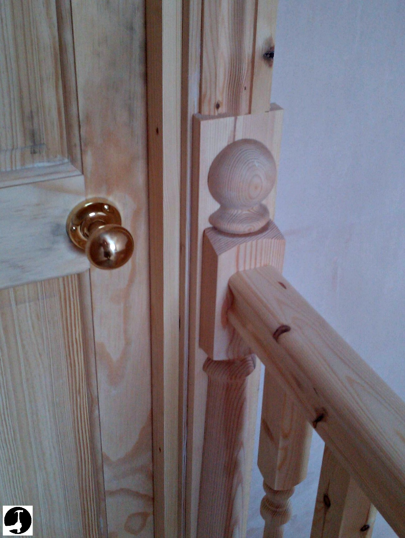 Fitting A Half Newel Post To The Wall To Finish Your