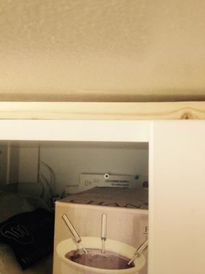 How to finish kitchen cabinets at ceiling