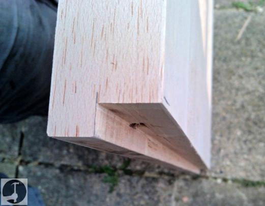 Rebating a stable door bottom