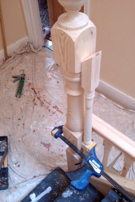 how to install hand rail