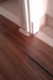 laminate in a doorway