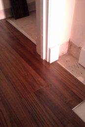 getting laminate under a doorway