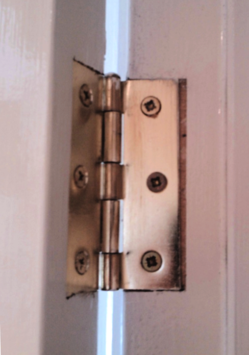 how to adjust a door by the hinges