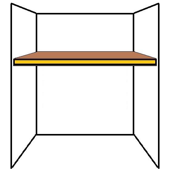 Floating alcove shelf