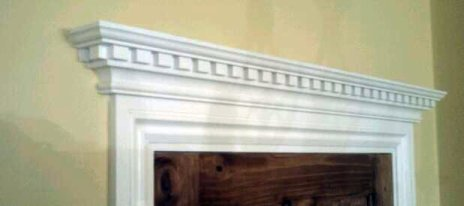 Architrave and dental cornice over the top