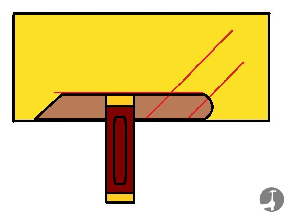 How to bisect an angle with a bevel