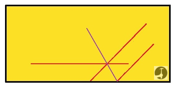 How to bisect an angle with a bevel during construction