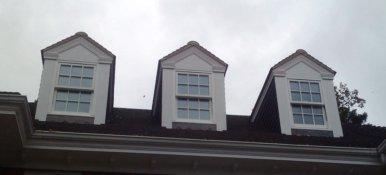 Corinthian style fascia on dormers