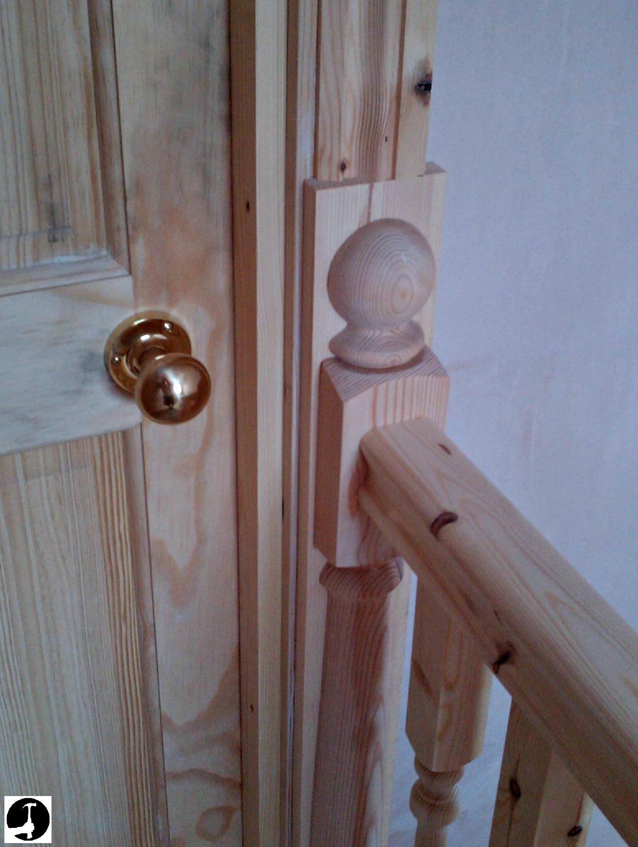 Finishing a balustrade at a doorway