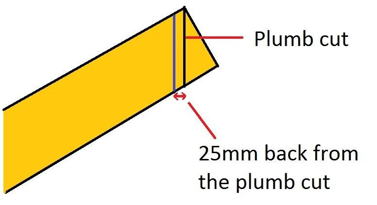 cutting a hip rafter