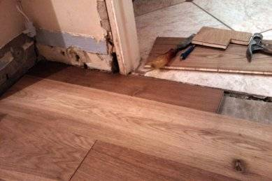 How To Lay Laminate In A Doorway For, Where To Stop Laminate Flooring In A Doorway