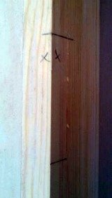 How to hang a door - mark the hinges
