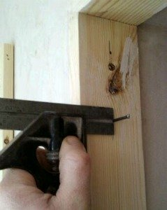How to hang a door - setting out