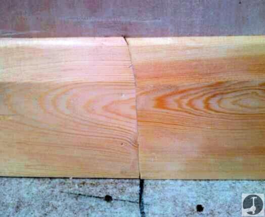 Lengthening joint in skirting boards