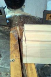 cutting baseboard